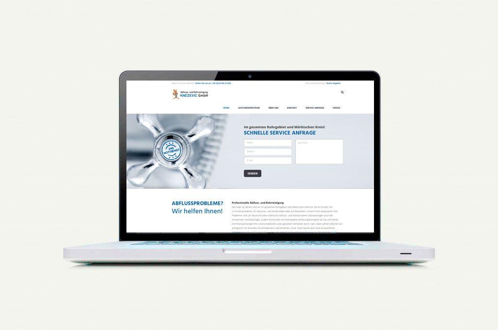 Webseite Rohrreinigung