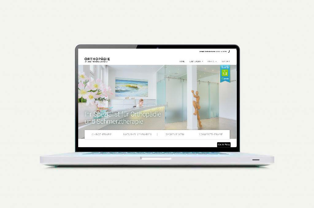 Webseite Orthopädie