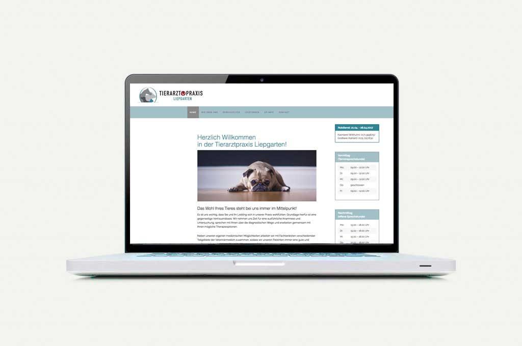 Tierarzt Praxis Webseite