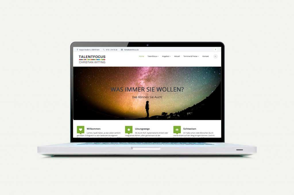 Webseite Talentfocus